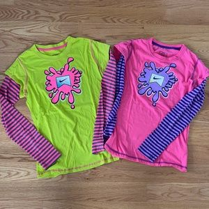 *2* Nike Girls NWOT Long-Sleeve Graphic Tees--XL